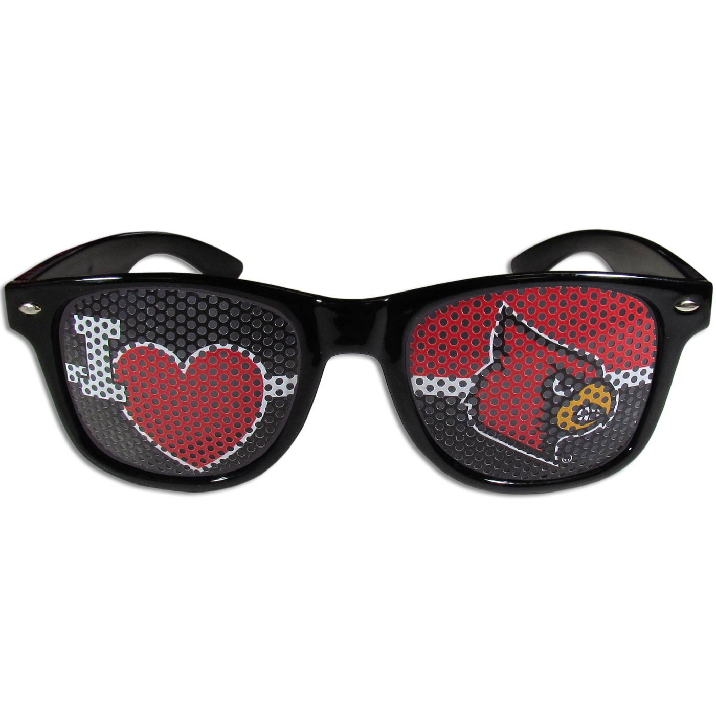 Louisville Cardinals Black I Heart Game Day Shades