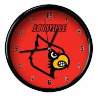 Louisville Cardinals Black Rim Clock