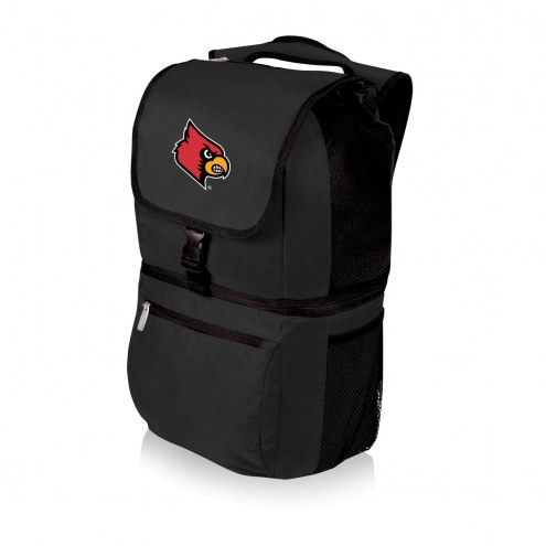 Louisville Cardinals Black Zuma Cooler Backpack