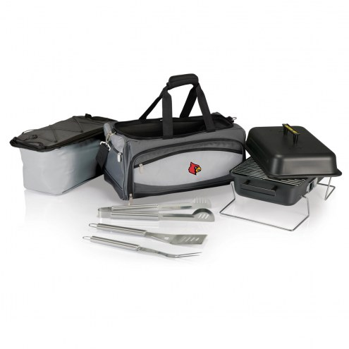 Louisville Cardinals Buccaneer Grill, Cooler and BBQ Set