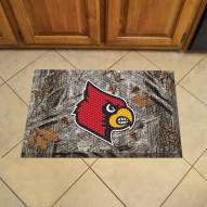 Louisville Cardinals Camo Scraper Door Mat