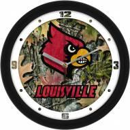 Louisville Cardinals Camo Wall Clock