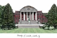Louisville Cardinals Campus Images Lithograph