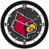 Louisville Cardinals Carbon Fiber Wall Clock