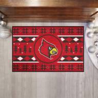Louisville Cardinals Christmas Sweater Starter Rug
