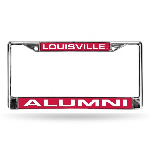 Louisville Cardinals Chrome Alumni License Plate Frame