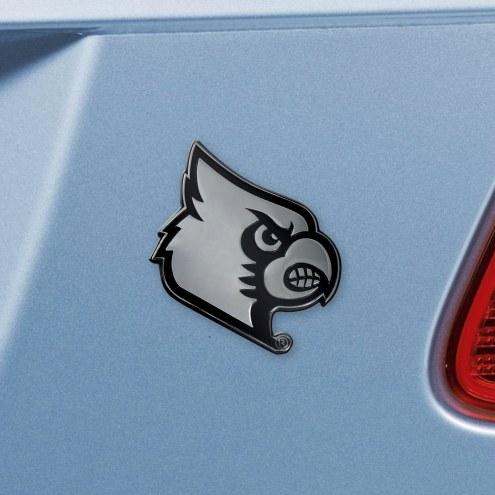 Louisville Cardinals Chrome Metal Car Emblem