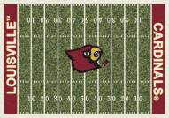Louisville Cardinals College Home Field Area Rug