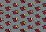 Louisville Cardinals College Repeat Area Rug