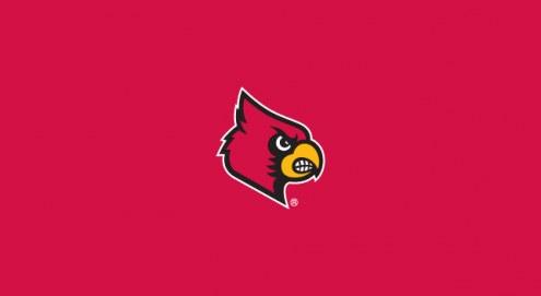 Louisville Cardinals College Team Logo Billiard Cloth