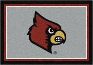 Louisville Cardinals College Team Spirit Area Rug