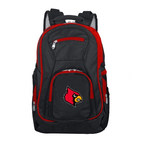 NCAA Louisville Cardinals Colored Trim Premium Laptop Backpack