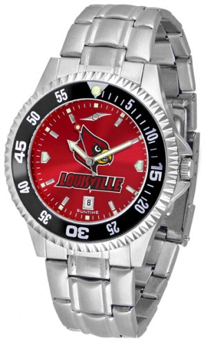 Louisville Cardinals Competitor Steel AnoChrome Color Bezel Men's Watch