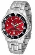 Louisville Cardinals Competitor Steel AnoChrome Color Bezel Men's Watch
