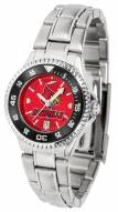 Louisville Cardinals Competitor Steel AnoChrome Women's Watch - Color Bezel