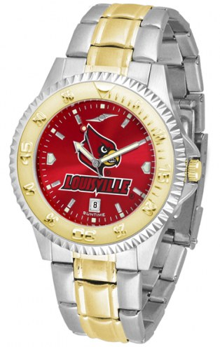 Louisville Cardinals Competitor Two-Tone AnoChrome Men's Watch