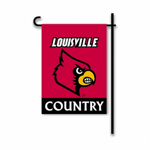 Louisville Cardinals Country Garden Flag