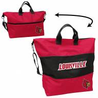 Louisville Cardinals Crosshatch Expandable Tote