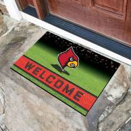 Louisville Cardinals Crumb Rubber Door Mat