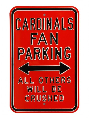 Louisville Cardinals Crushed Parking Sign