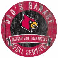 Louisville Cardinals Dad's Garage Sign