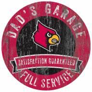Louisville Cardinals Dad's Garage Sign