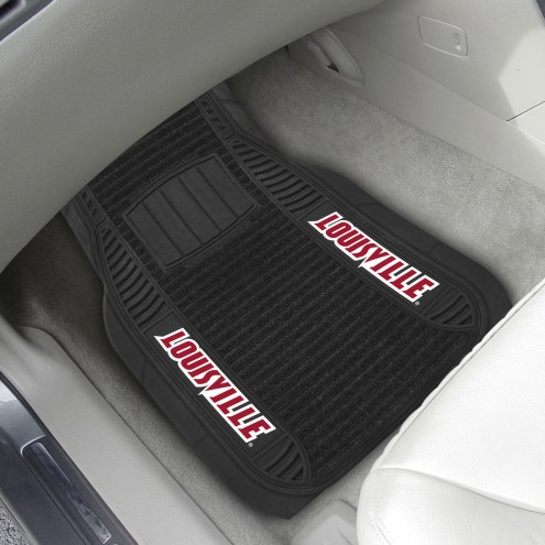Louisville Cardinals Deluxe Car Floor Mat Set