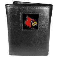 Louisville Cardinals Deluxe Leather Tri-fold Wallet in Gift Box