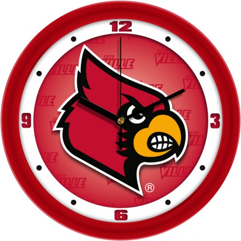 Louisville Cardinals Dimension Wall Clock