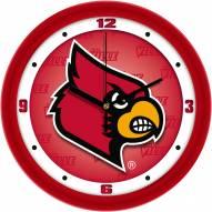 Louisville Cardinals Dimension Wall Clock