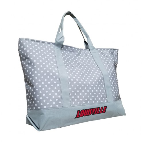 Louisville Cardinals Dot Tote Bag