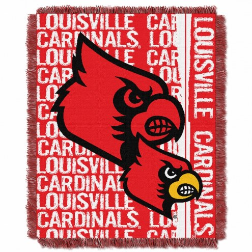Louisville Cardinals Double Play Woven Throw Blanket
