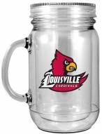 Louisville Cardinals Double Walled Mason Jar