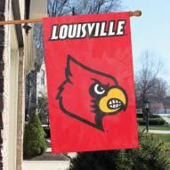 Louisville Cardinals NCAA Applique 2-Sided Banner Flag