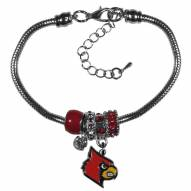 Louisville Cardinals Euro Bead Bracelet