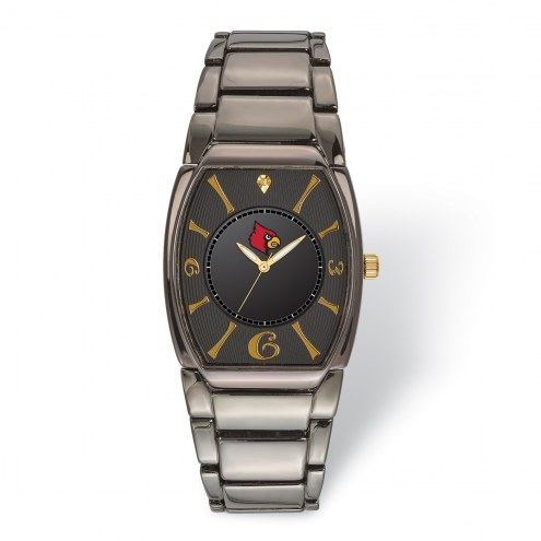 Louisville Cardinals Executive Black Plated Watch
