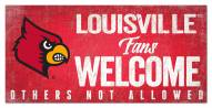 Louisville Cardinals Fans Welcome Sign