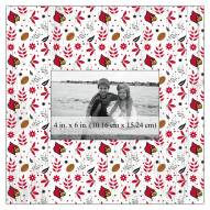 """Louisville Cardinals Floral Pattern 10"""" x 10"""" Picture Frame"""