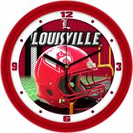 Louisville Cardinals Football Helmet Wall Clock