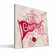 Louisville Cardinals Gameday Vibes Canvas Print