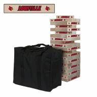 Louisville Cardinals Giant Wooden Tumble Tower Game
