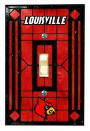 Louisville Cardinals Glass Single Light Switch Plate Cover