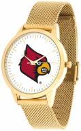 Louisville Cardinals Gold Mesh Statement Watch