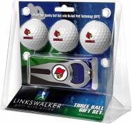 Louisville Cardinals Golf Ball Gift Pack with Hat Trick Divot Tool