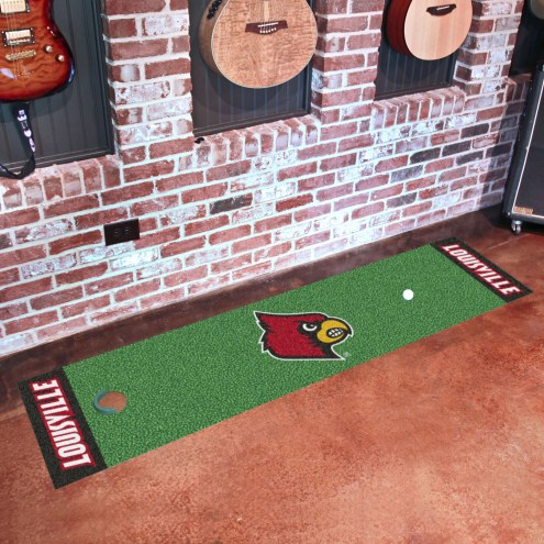 Louisville Cardinals Golf Putting Green Mat