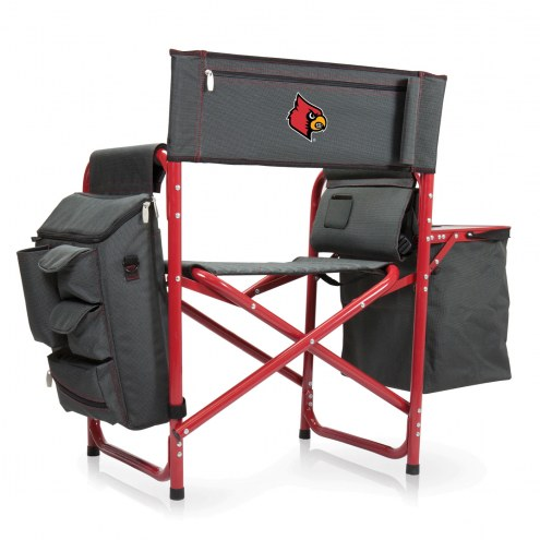 Louisville Cardinals Gray/Red Fusion Folding Chair