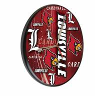 Louisville Cardinals Digitally Printed Wood Clock