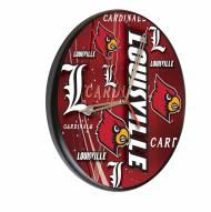 Louisville Cardinals Digitally Printed Wood Clock