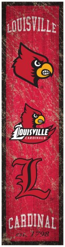 Louisville Cardinals Heritage Banner Vertical Sign