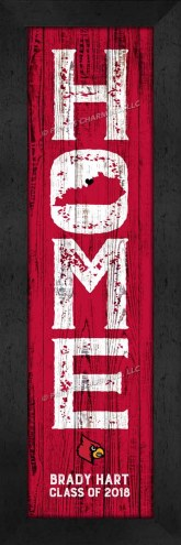 Louisville Cardinals Home Away From Home Personalized Wall Decor